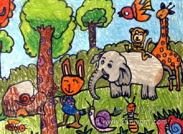 动物乐园儿童画15幅(第7张)