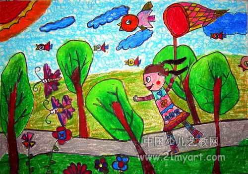 儿童春天简笔画图片精选  关于春天景色的简短儿童小散文答:春天来了!