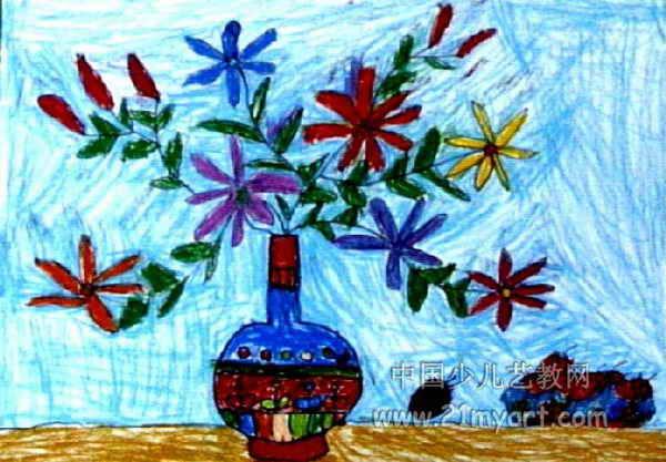 花瓶儿童画 三 7幅图片
