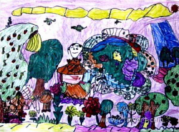 我是美丽小孔雀儿童画