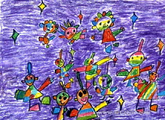 儿童画           动物音乐会儿童画3幅