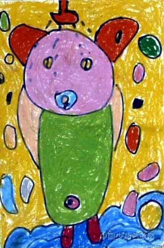 小熊洗澡儿童画3幅