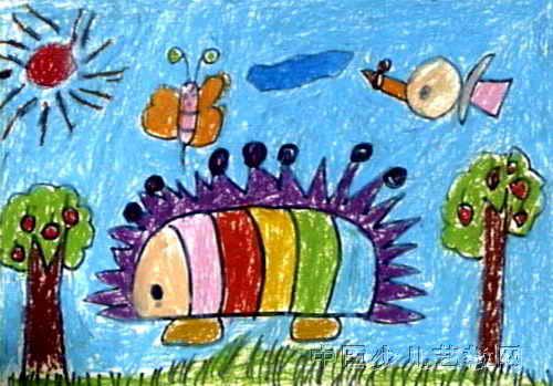 刺猬儿童画4幅