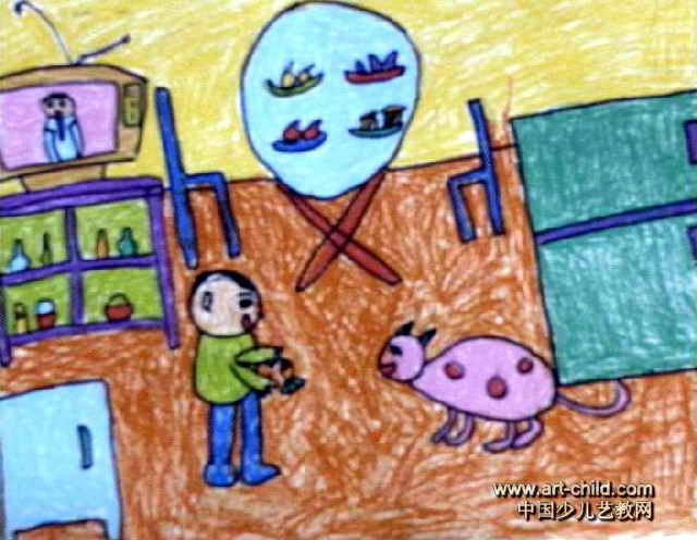 我的家儿童画 二 8幅 第6张