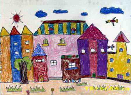 我的漂亮房子儿童画