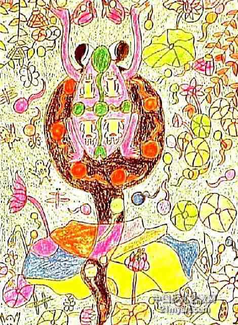 荷叶儿童画画图片