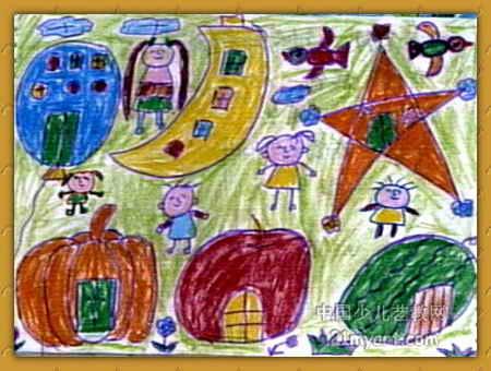 神奇的房子儿童画10幅(第7张)