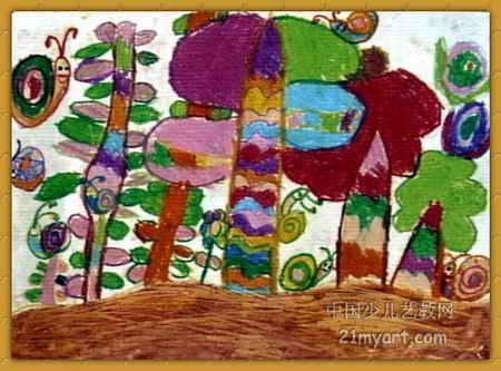 蜗牛乐园儿童画属于油画棒画