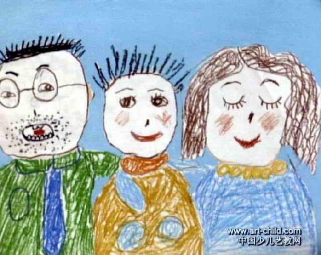全家福儿童画(一)5幅(第2张)图片