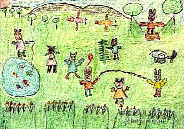 动物乐园儿童画15幅(第2张)