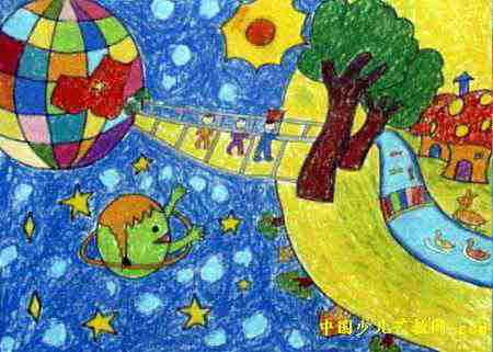小朋友月亮的画