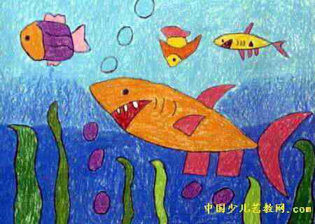 海底世界儿童画(十三)8幅(第4张)