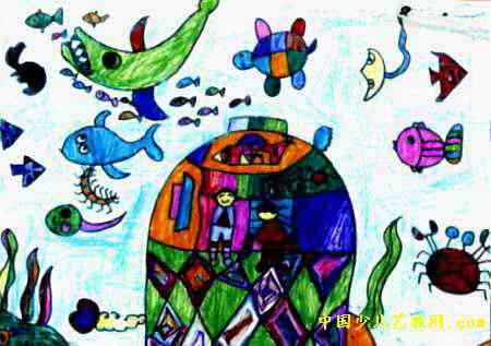 漂亮的海底世界儿童画