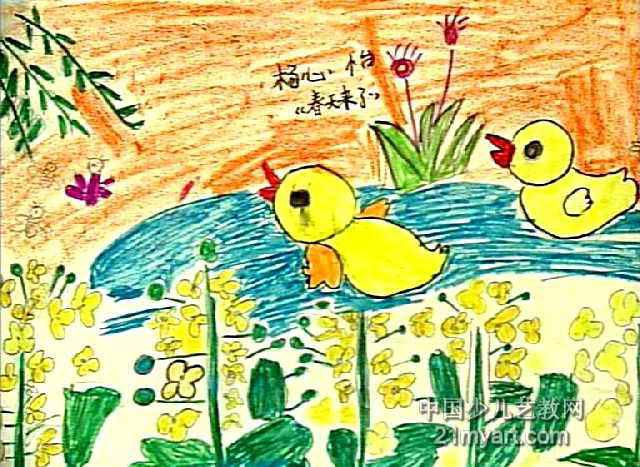 春天来了儿童画 二 7幅 第6张