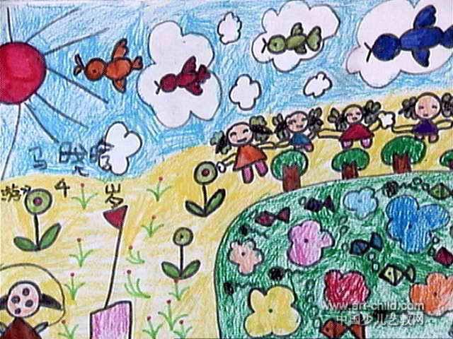 幼儿园中班油画棒画图片大全