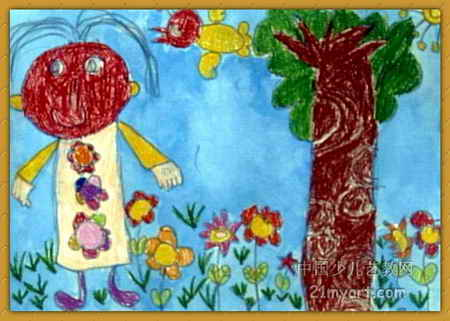 美丽的春天儿童画15幅(第13张)图片