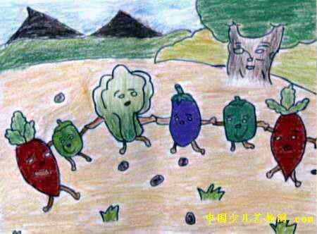 秋收儿童画4幅(第3张)