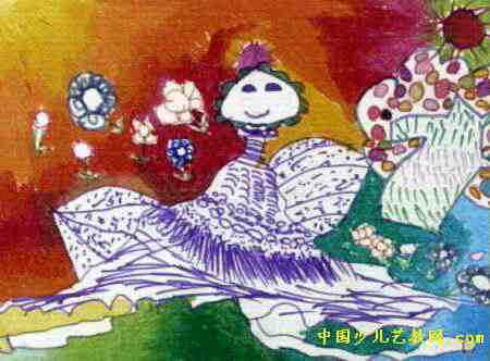 玉蚌姑娘儿童画