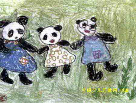 爸爸妈妈和宝宝_熊宝宝和她的爸爸妈妈儿童画