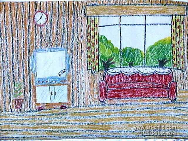 我的家儿童画(六)4幅(第3张)