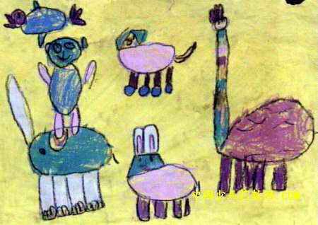 可爱的小动物儿童画7幅(第4张)