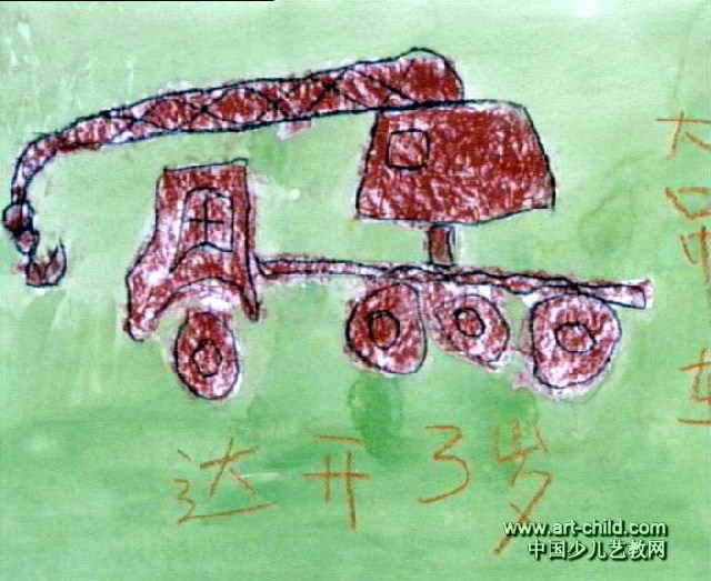 儿童画小汽车的画法