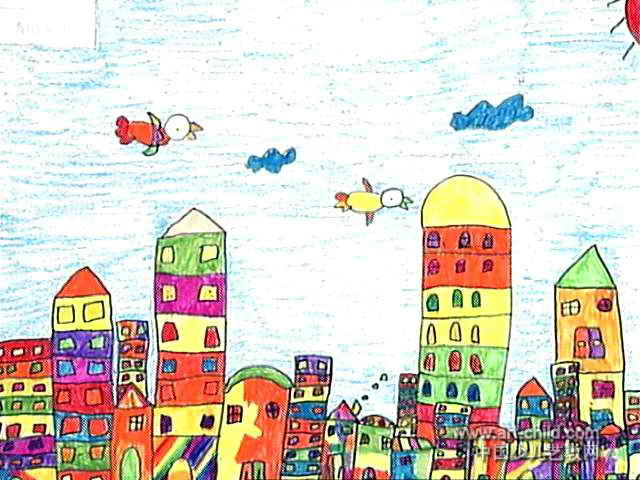 我的家乡儿童画15幅 第12张