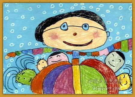 师像妈妈儿童画4幅