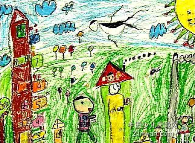 我爱我的家儿童画2幅