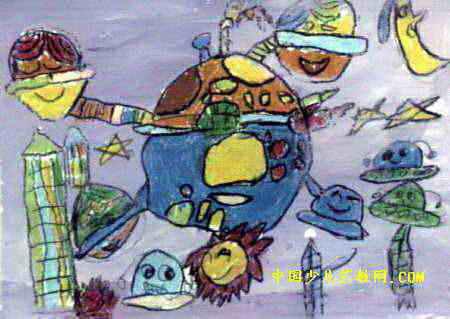 太空世界儿童画11幅(第8张)