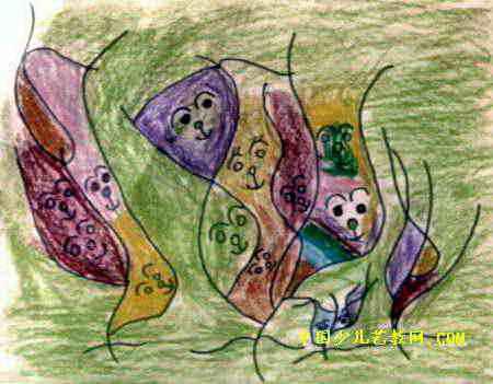 遥控汽车儿童画 小青蛙找妈妈儿童画作