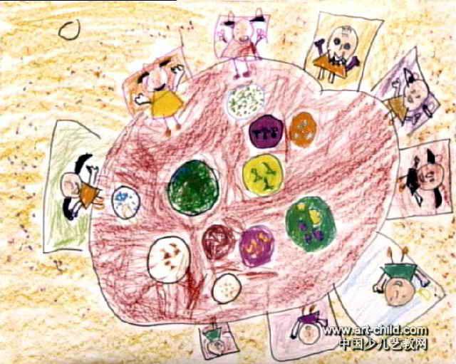 猫咪戏蝴蝶儿童画 我爱照镜子儿童画