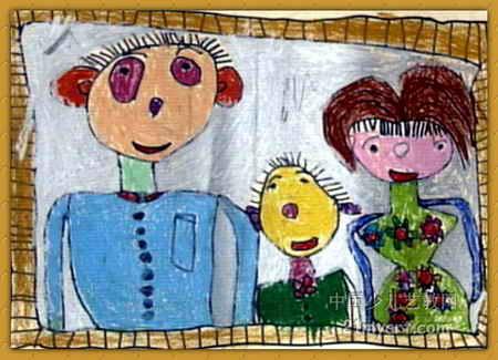 全家福儿童画(一)5幅(第3张)图片