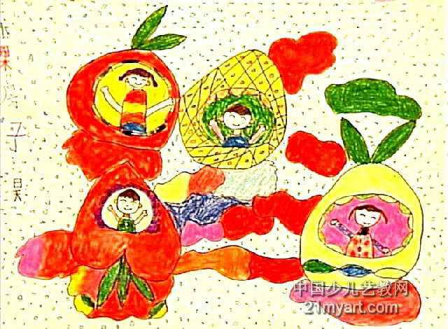 儿童画房子的画法——茅草屋