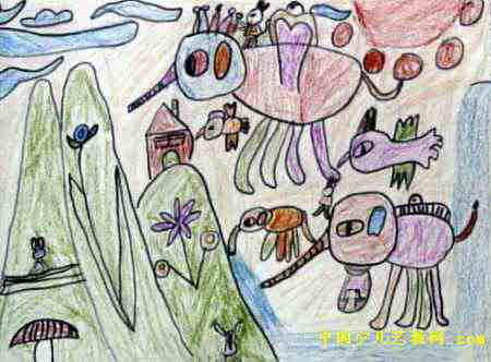 儿童画的大象的图片图片