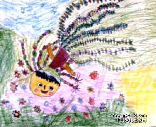 正在跑步的小女孩简笔画范画