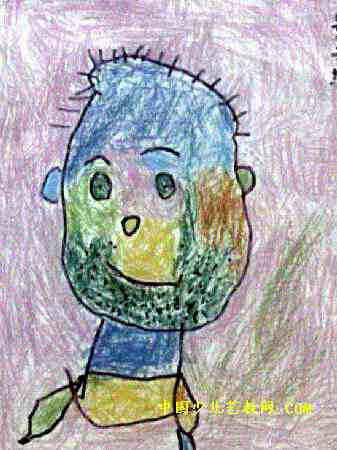 长大的我儿童画属于油画棒画,作品长450px,宽337px,作者景子纯,女,3.5岁,就读中原机械厂幼儿园.