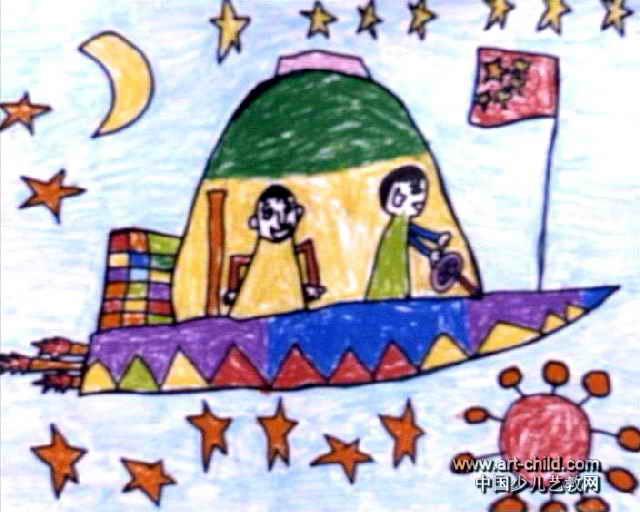 我长大了儿童画,此幅油画棒画尺寸为512x640像素,作者孙志浩,男,5岁,来自三门峡市第二幼儿园.