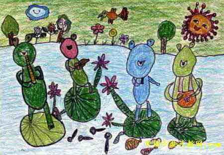 好吃的糖葫芦儿童画 月夜狂救会儿童画