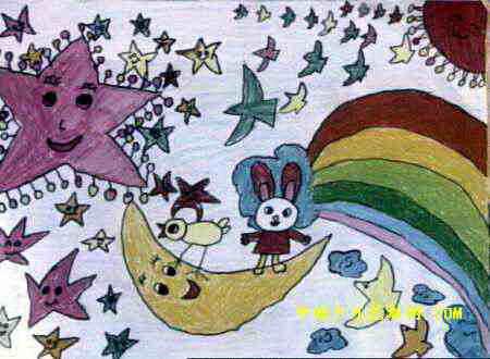 奇妙的天空儿童画
