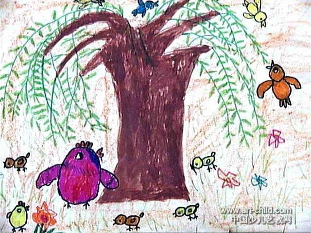 春天到了儿童画4幅(第2张)