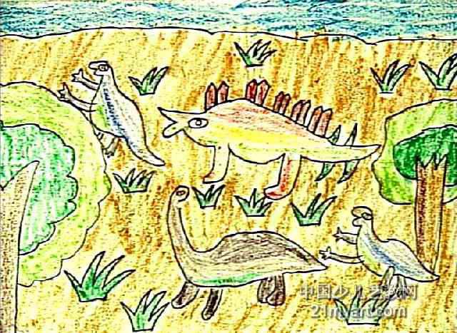 恐龙世界儿童画(三)7幅