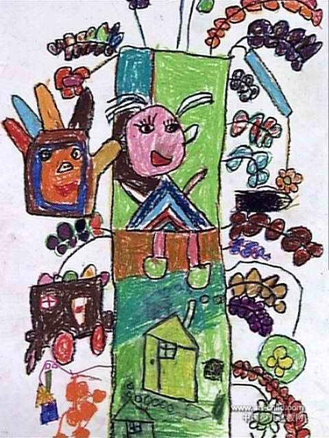 奇怪的树儿童画2幅