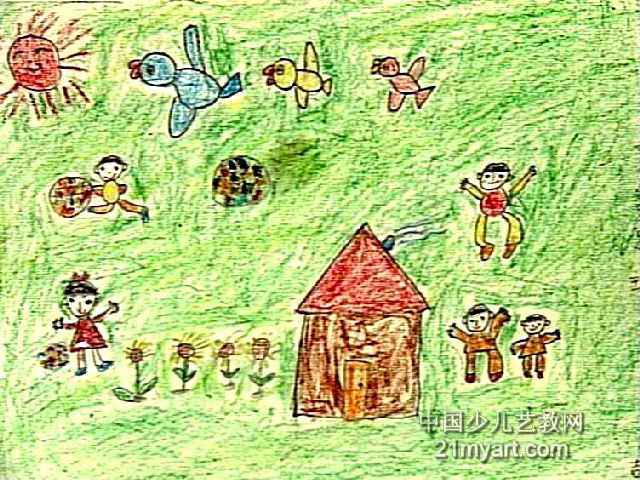 我们爱足球儿童画2幅图片
