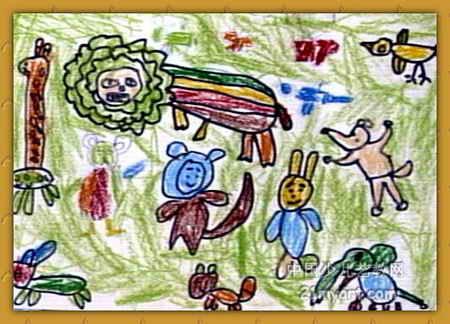 动物世界儿童画10幅(第7张)图片