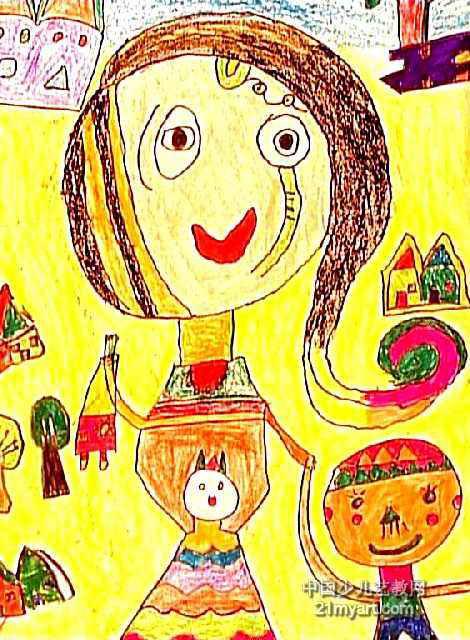 我和妈妈儿童画6幅