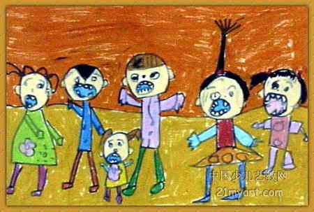 儿童画海马作画步骤
