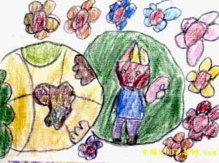 我们的祖国是花园儿童画