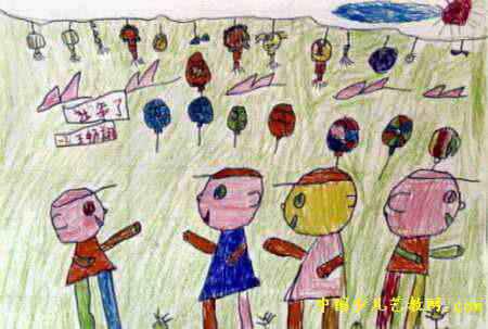 过年了儿童画9幅(第2张)