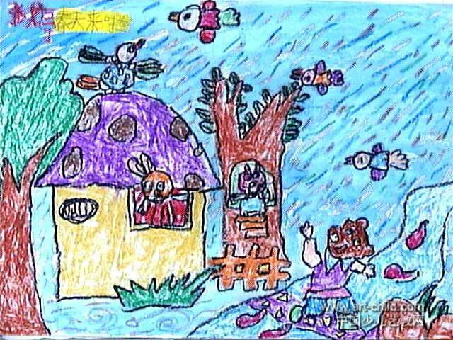 春天来了儿童画(四)9幅